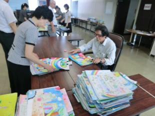 写真:絵画コンクール審査会②